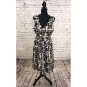 Talbots Plaid Print Linen Dress
